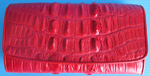 красный женский кошелек из кожи крокодила, миниатюра