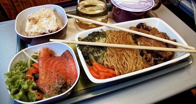 питание на борту тайских авиалиний отменное
