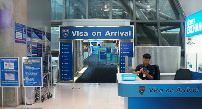 получение визы по прилету в аэропорту Суварнабхуми (visa on arrival)