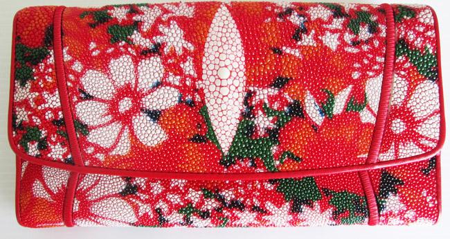 женский кошелек из ската, модель 022