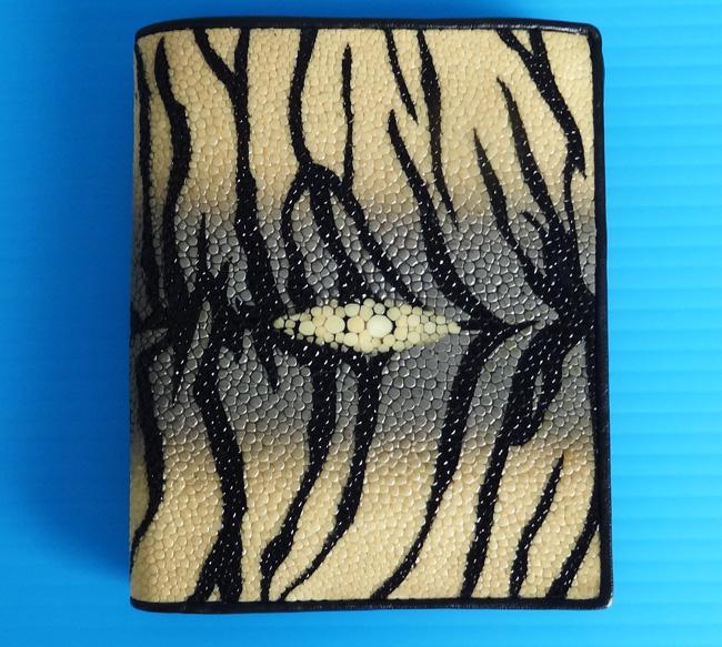 мужской бумажник из полированной кожи морского ската