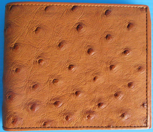 кошелек из кожи страуса