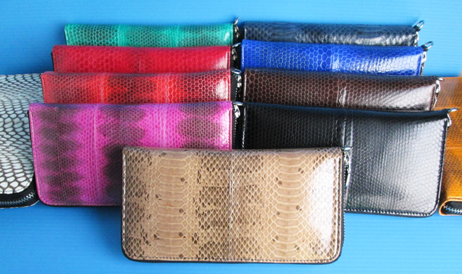 water_snake_skin_clutch_wallets_for_women