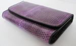 фиолетовый женский кошелек из кожи водной змеи