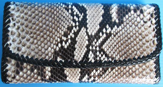 Женский кошелек из кожи питона, разноцветный