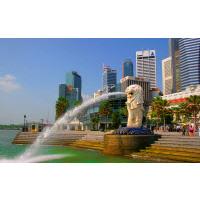 Сингапур и его символ - мерлайен. Наполовину рыба, наполовину лев. Сингапур - это мировой финансовый центр, с крупным морским портом и наиболее посещаемым аэропортом Юго-Восточной Азии - Чанги.