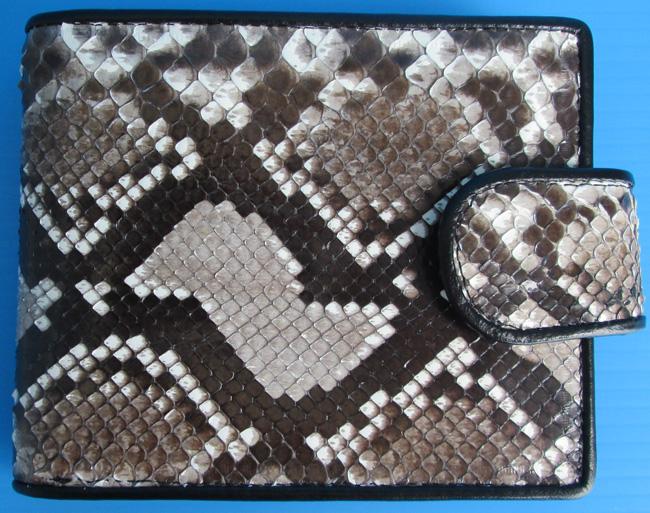 мужской кошелек из кожи питона, разноцветный