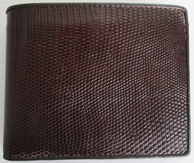 темно-коричневый мужской кошелек из кожи игуаны