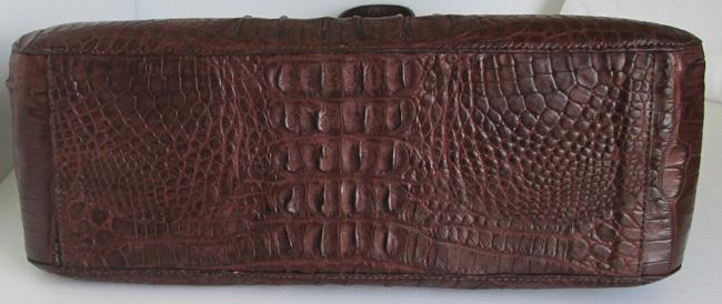 темно-коричневая женская сумка из кожи американского аллигатора