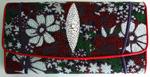 картинка-иконка - женский кошелек из кожи ската с разноцветным узором