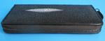 женский кошелек-клатч из кожи морского ската, черный