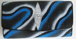 разноцветный женский кошелек из кожи морского ската, модель 043.