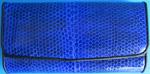 синий женский кошелек из кожи змеи