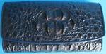 темно-синий женский кошелек из кожи крокодила