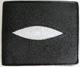 черный с белой линзой мужской кошелек из кожи морского ската - одна из наиболее ходовых моделей мужских кошельков из Таиланда