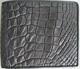 серый мужской кошелек из кожи крокодила