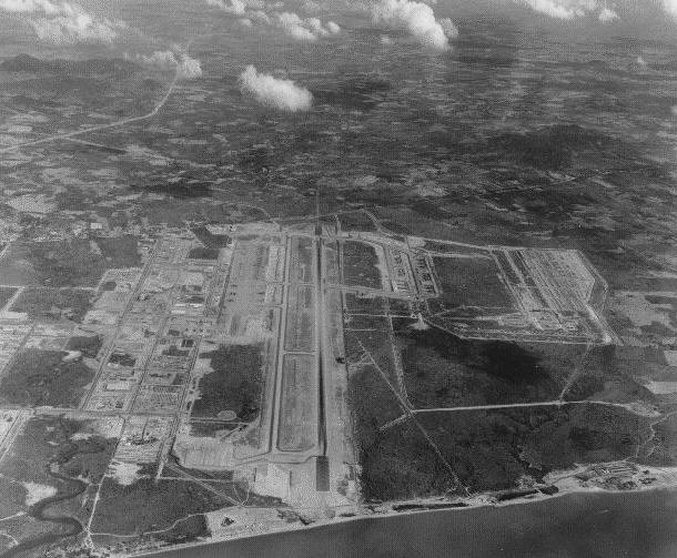 аэрофотосъемка аэропорта U-Tapao с борта американского военного самолета в 1969 году