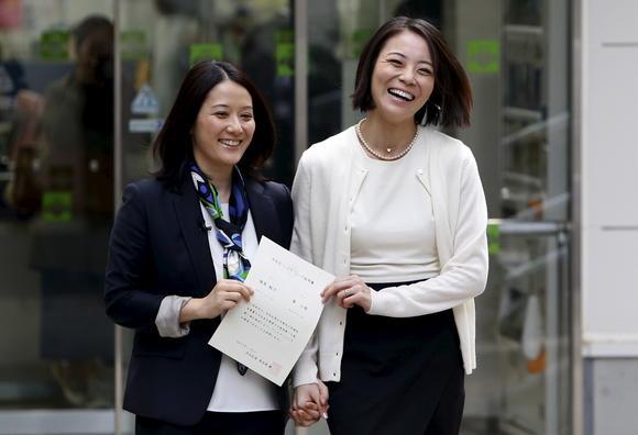 первый однополый брак в Японии с выдачей официального сертификата
