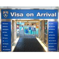 виза по прибытию в Таиланд получается в аэропортах прилета (на фото пункт выдачи в аэропорту Суварнабхуми)