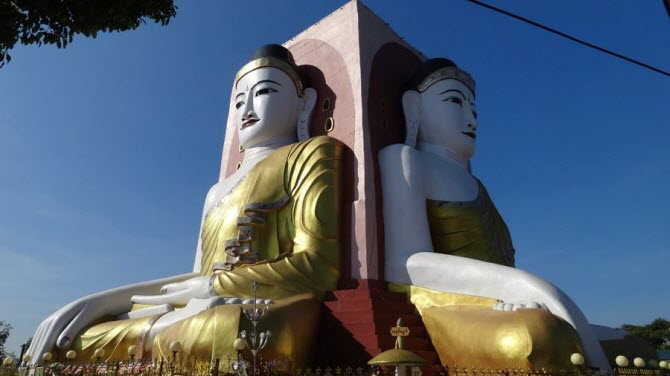 Статуи-Будды в Баго, Мьянма