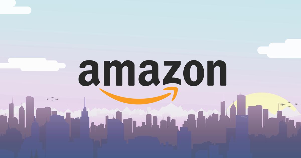 Магазины на Amazon: красочная заставочка с логотипом Амазон