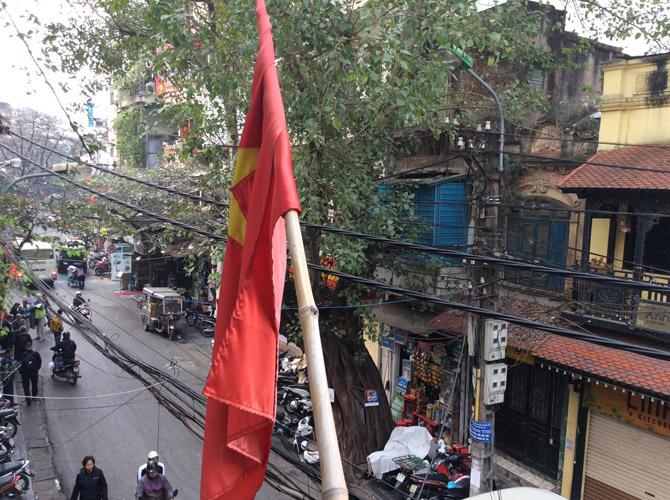 Доброе утро, Ханой! Вид из окна отеля утром в старом городе Ханоя