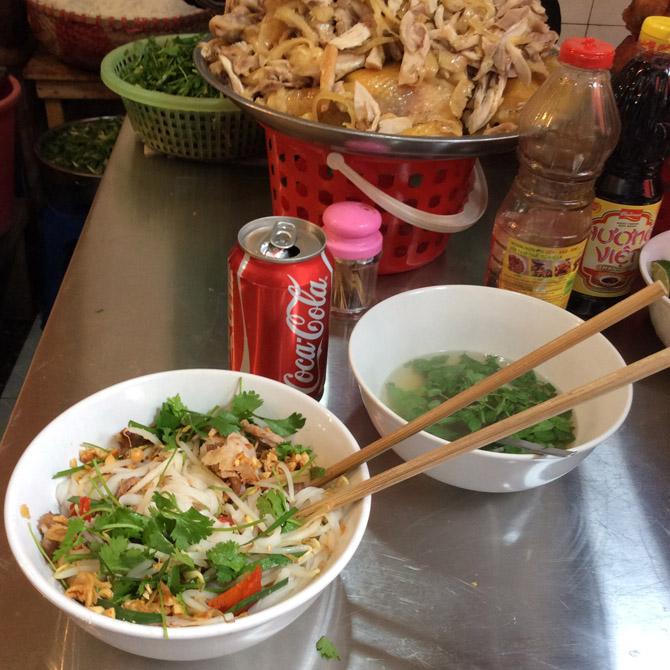 типичная уличная еда в Ханое