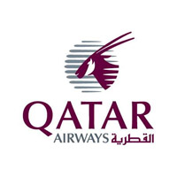 фирменный логотип Катарских авиалиний (Qatar Airways)