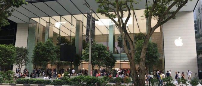 магазин Apple в Сингапуре на Orchard Road, открытый 27 мая 2017