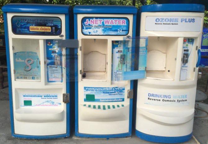 торговые автоматы по продаже воды, очищенной обратным осмосом, в Таиланде