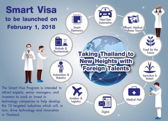 инфографика, посвященная новой тайской визе SMART Visa - краткое содержание новации