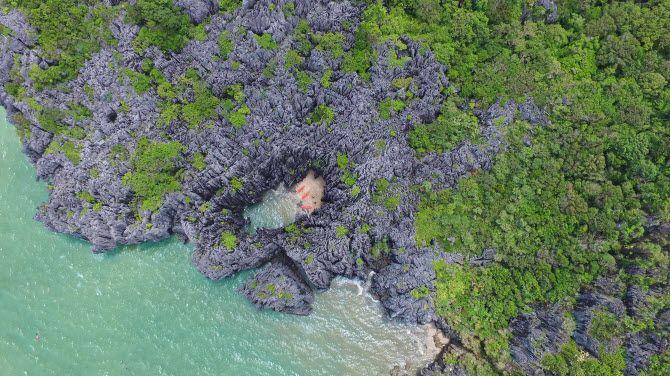природные красоты геопарка Сатун на юге Таиланда, вид сверху
