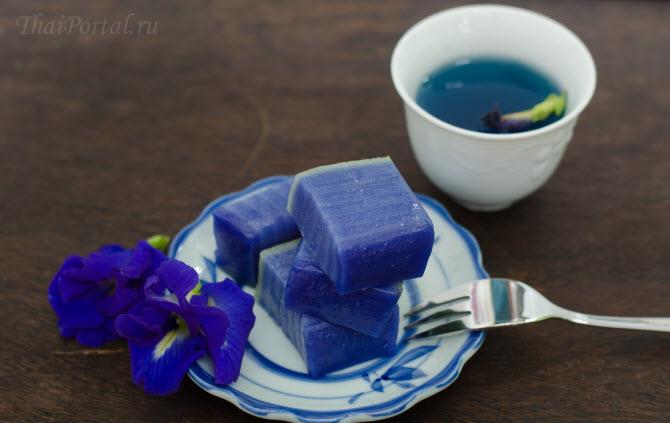 пирожные с голубым матча