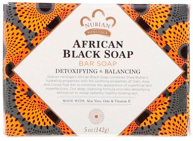 черное африканское мыло nubian-heritage