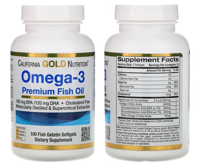 Капсулы Омега-3 от американского производителя California Gold Nutrition