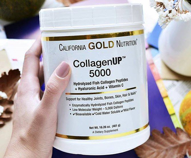 коллаген, емкость от California Gold Nutrition