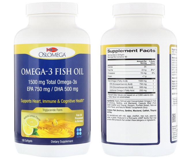 комплекс omega-3 со вкусом лимона от норвежского производителя Oslomega