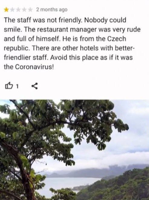 отрицательный отзыв, который оставил Wesley Barnes о тайском отеле на Ко Чанге Sea View Koh Chang