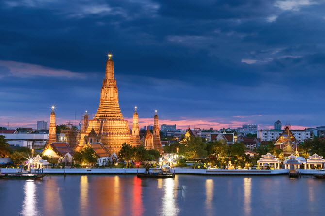 посмотреть на Ват Арун в Бангкоке иностранным туристам доведется не раньше ноября 2021 года, так как открытие Бангкока после пандемии сдвигают